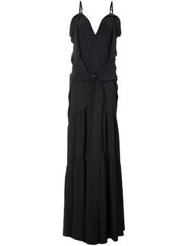 Vera Wang flared maxi dress - Black