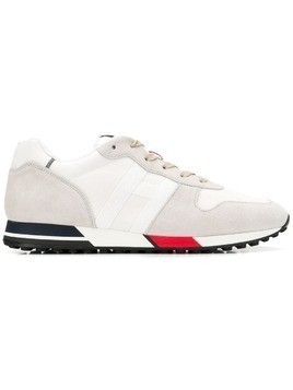 Hogan panel lace-up sneakers - White