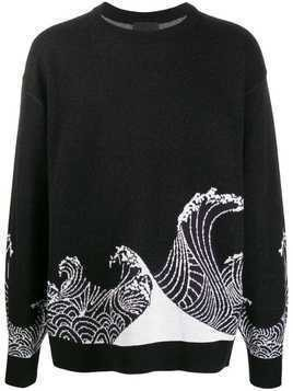 D.Gnak knitted wave sweater - Black