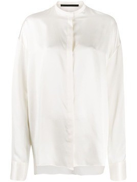 Haider Ackermann mandarin collar blouse - White