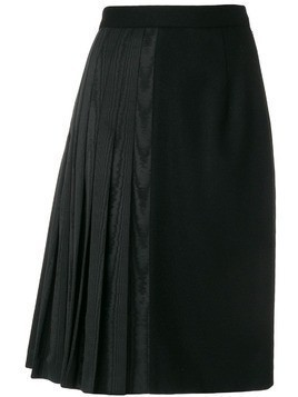 Thom Browne Moire Half Pleated Pencil Skirt - Black