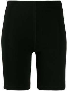 Styland high-waist cycling shorts - Black
