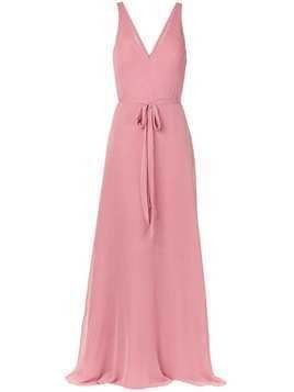 Marchesa Notte Bridesmaids sleeveless tied waist dress - PINK