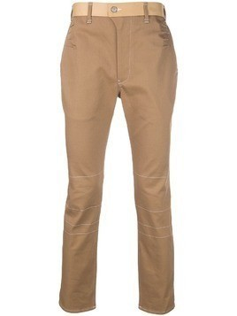 Julien David overstitched trousers - Neutrals