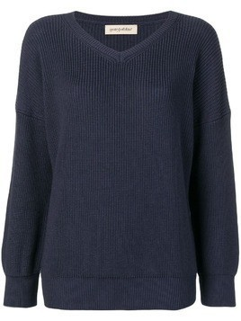 Gentry Portofino V-neck jumper - Blue