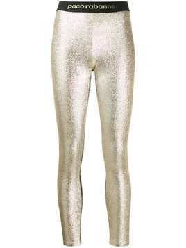 Paco Rabanne metallic leggings - Silver