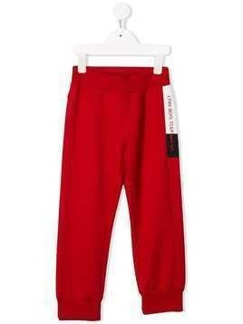 Lapin House side logo straight-leg track pants - Red