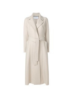 Harris Wharf London belted trench coat - Nude&Neutrals