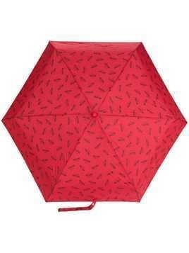 Moschino logo printed umbrella - Red