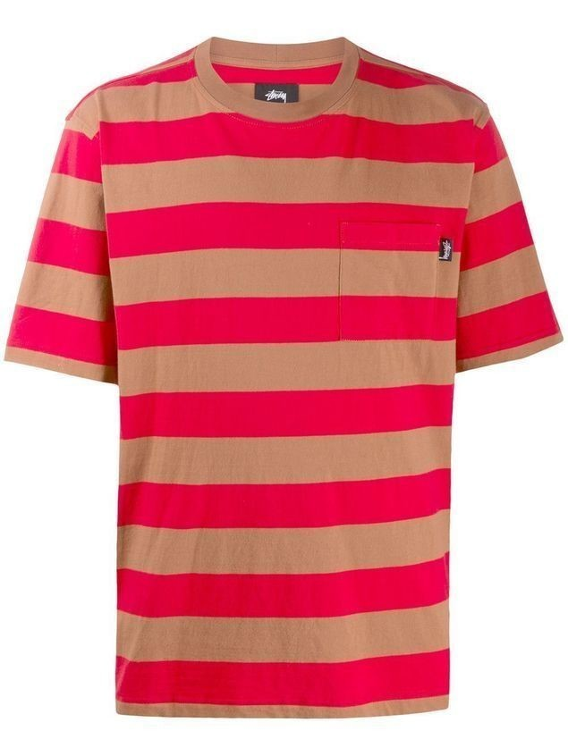 Stussy striped relaxed-fit T-shirt - Brown