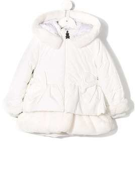 Lapin House trimmed padded jacket - White