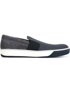 Lanvin panelled slip-on sneakers - Blue