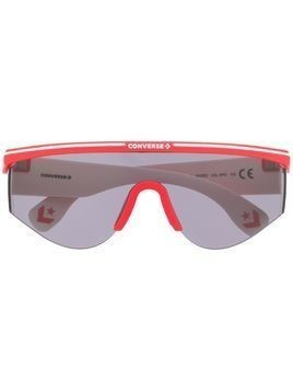Converse geometric-frame sunglasses - Red