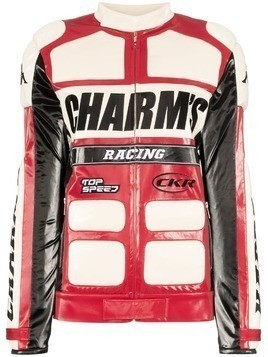 Charm's x Kappa faux leather biker jacket - Red