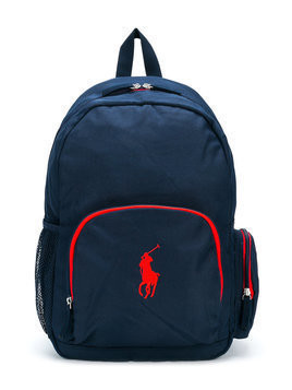 Ralph Lauren Kids logo backpack - Blue
