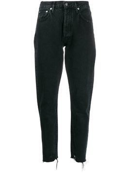 Agolde Jamie straight organic cotton jeans - Black