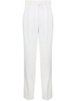 Victoria Beckham high-rise straight-leg tailored trousers - White