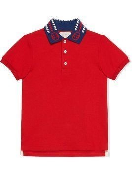 Gucci Kids Interlocking G short-sleeve polo shirt - Red