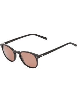 Lesca circle frame sunglasses - Black