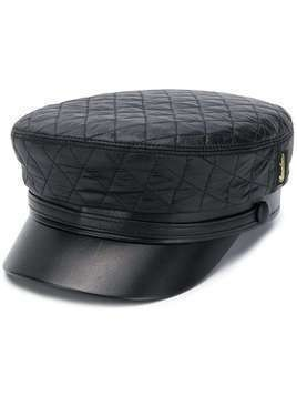 Borsalino quilted forage cap - Black