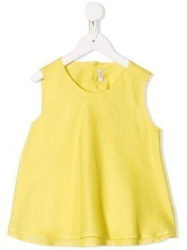 Il Gufo tiered sleeveless blouse - Yellow