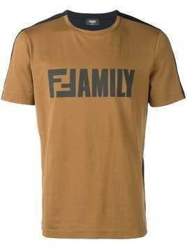 Fendi Family T-shirt - Brown