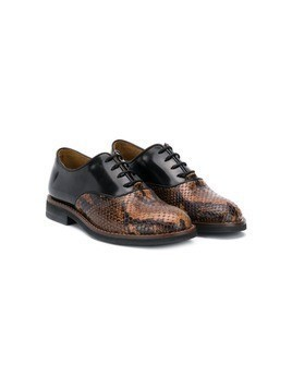 Gallucci Kids snakeskin effect derby shoes - Brown