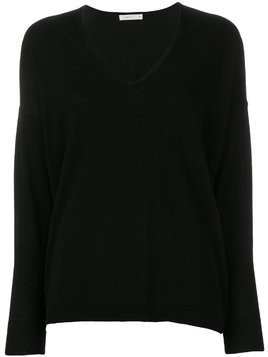 6397 lightweight V-neck sweater - Black