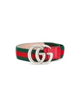 Gucci Kids Web GG buckle belt - Green