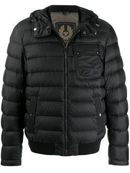 Belstaff Streamline logo patch padded jacket - Black