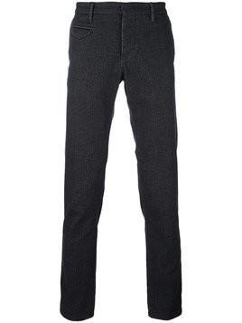 Incotex - textured tailored trousers - Herren - Cotton/Polyester/Spandex/Elastane/Viscose - 32 - Black