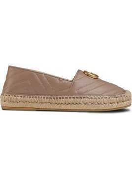 Gucci Leather espadrille with Double G - Brown