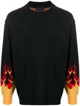 D.Gnak flame knit sweater - Black