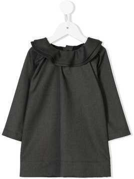 Douuod Kids ruffled neck dress - Grey