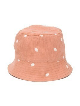 Emile Et Ida polka dot bucket hat - Neutrals