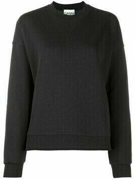 GANNI recycled cotton-blend sweatshirt - Grey