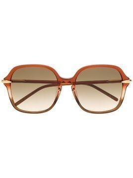 Pomellato Eyewear oversized frame sunglasses - Brown