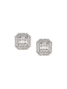 Gemco 18kt white gold and diamond stud earrings - Metallic