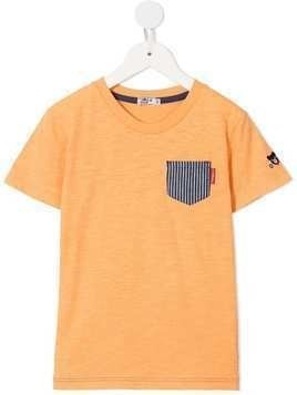 Miki House contrast patch T-shirt - Orange