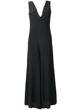 Semicouture palazzo trouser jumpsuit - Black