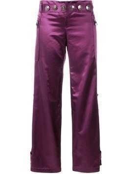 Romeo Gigli Pre-Owned wide-legged cropped trousers - PINK