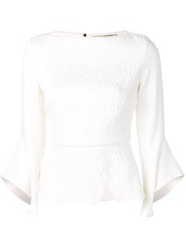 Roland Mouret richardson pucker top set - White