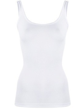 Vince ribbed vest top - White