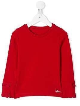 Lapin House bow sleeve sweatshirt - Red
