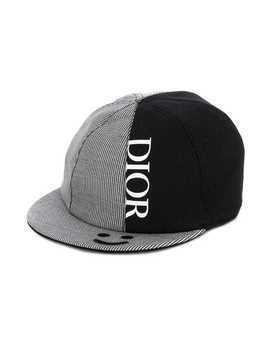 Baby Dior stripe panel cap - Black
