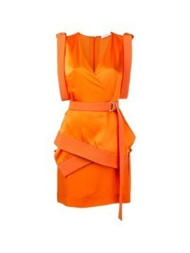Mugler technical cady mini dress - Yellow&Orange