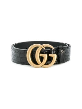 Gucci GG plaque belt - Black