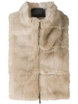 Lorena Antoniazzi shearling zip up gilet - Neutrals