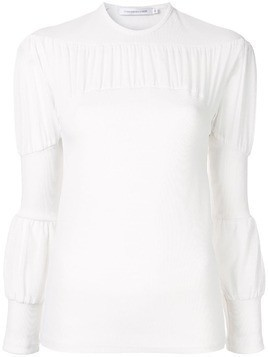 Christopher Esber ruched detail top - White