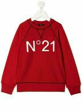 Nº21 Kids logo-printed sweatshirt - Red